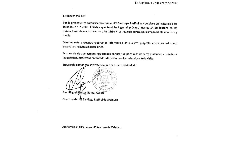 JORNADA DE PUERTAS ABIERTAS 2017 IES SANTIAGO RUSIÑOL