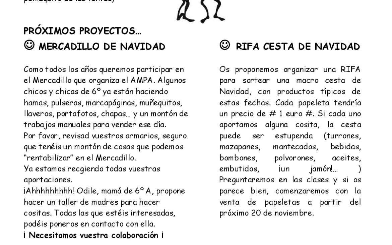 NOTICIAS DE 6º DE PRIMARIA