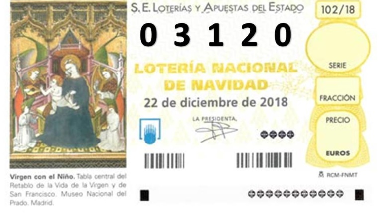 LOTERÍA DE NAVIDAD 03120